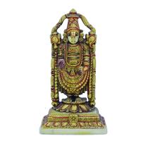 Bronzy Tirupati Balaji Idol Made Of Resin