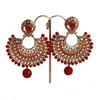 Brassed designer earrings