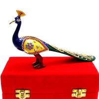 Creative Art Work On A Peacock Showpiece