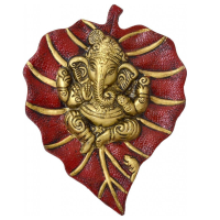 Decorate Your Home With Lord Ganesha On Red Leaf
