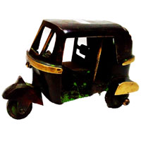 Decorative Auto Rikshaw In Brass Metal Handicrafts Online