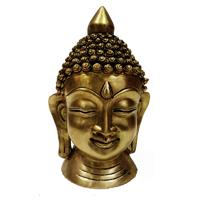 Brass Handicrafts Metal Mahatma Buddha Face Statue Online