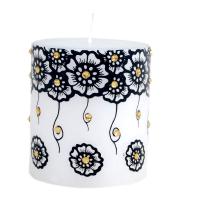 Decorative meenakari candle