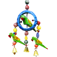 Decorative Wind Chime Wall Hanging Parrot For Good Vastu