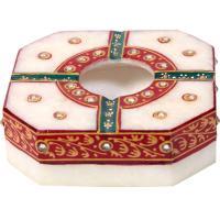 Traditional Marble Meenakari Handicraft Ash Tray Online