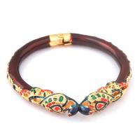 Designer peacock maroon bangle