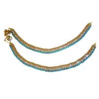 Designer turquoise anklet