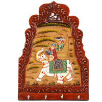 Elephant Paint Wood Crafted Key Holder For Wall Online