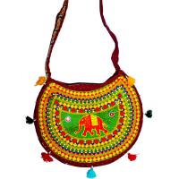 Designer bag with multicolour design