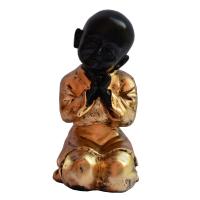 Exquisite Baby Monk Statue In Fiber
