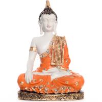 Fiber Meditating Buddha - Orange For Your Pious Home