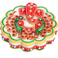 Ganesh & Parrot Design Chopra Marble Items For Ladies