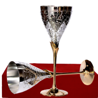 German Silver Wine Glass Set For Wedding Giveaways