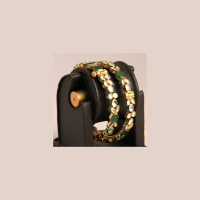 Gold plated brass bangles