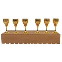 Gold Plated Np Wine Glass Set Of 6