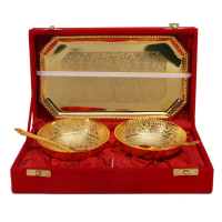 Handcrafted Gold Plated Bowl Set Of 2