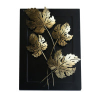 Handcrafted Quadra Leaf Candle Wall Décor