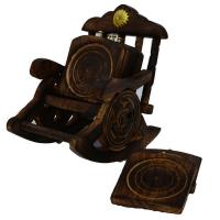 Handmade wooden tea coasters