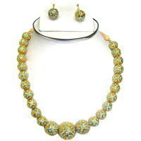 Hanging Turquoise ball necklace
