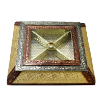 Wooden box with brass designed lid for dry fruit storage