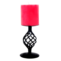 Lamp Shaped Wrought Iron Candle