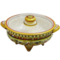 Marble Meenakari Crafted Dry Fruit Gift Box With Lid Online