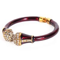 Maroon stone studded bangle