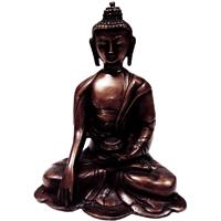 Meditative Brass Handicrafts Buddha Statue For Home Decor