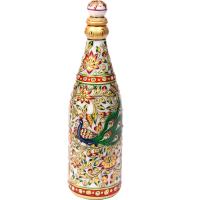 Meenakari Marble Handicrafts Champagne Bottle Online