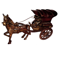 Brass Handicrafts Miniature Horse Cart Showpiece Online