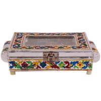 Multicolour wooden meena dry fruit box