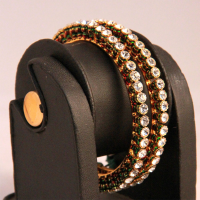 Multilayered gold plated brass bangles