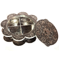 Oxidized Flower Printed Mouth Freshener Holder Online