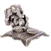 Oxidized Handicraft Lord Ganesha Chowki With Diya Online