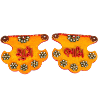 Kundan Craft Pankhi Shaped Shubh Labh Door Toran For Diwali