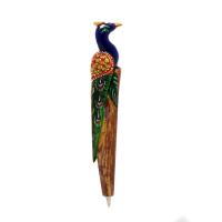 Peacock Shaped Pen in Wood