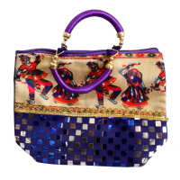 Stylish purple ladies hand bag