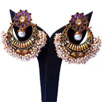 Purple ram leela earrings