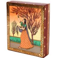 Artistic Ragini Wooden Gemstone Crafted Jewellery Box Online