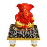 Resin made Ganesh with Chowki