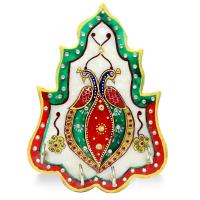 Peacock Meenakari Stone Crafted Marble Key Holder Online
