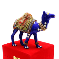 Standing Camel Showpiece With Stone Designs