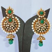 Stylish green jhumka earrings