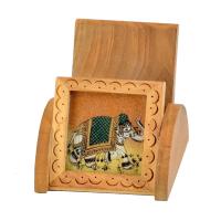 Wooden Mobile Holder for Office Desk