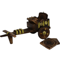The Perfect Home Décor With Wooden Cart Design Tea Coasters