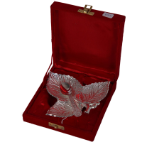 3 Leaved German Silver Serving Tray As Return Gifts Online