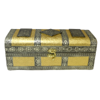 Trunk shaped compact jewellery bangle box made of wood