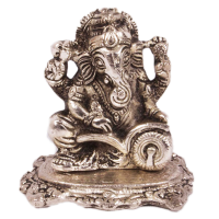 Welcome Home Good Luck With Silver Colored Ganesh Ji