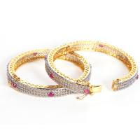 White ad stone studded bangles