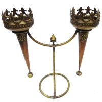 Wood & Brass Handicrafts Mashal At Online Craft Store India